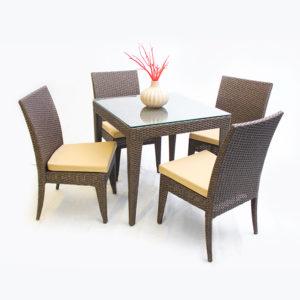 Столовый набор Валери(алюминиевый каркас, экоротанг)